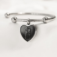 Cremation Bracelet Pandora Styled Charm Cat Heart NEW!