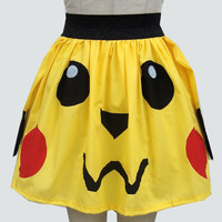 Pikachu Inspired Full Skirt -RESERVED