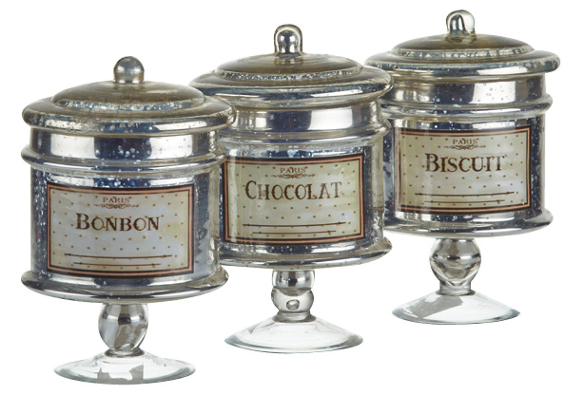 Glass Sweet Canisters Set Of 3 Kitchen From One Kings