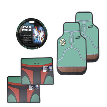 Star Wars Boba Fett Floor Mat Set 5 Pcs