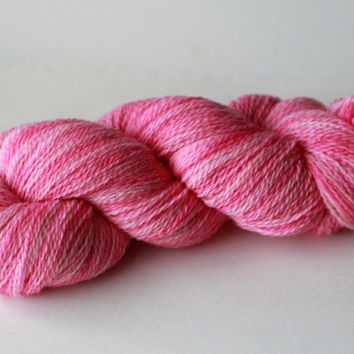 BLOSSOM - Fingering Weight Wool Yarn for Knitting, Crochet or Felting - Hand-Painted Wool Yarn Skein - 440 Yards / 100g