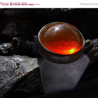 30 PERCENT OFF SALE orange Fire Opal Ring by Beijo by BeijoFlor