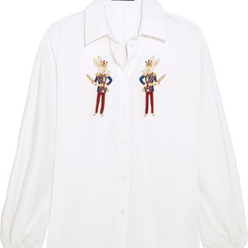 Embellished silk-charmeuse shirt | DOLCE & GABBANA | Sale up to 70% off | THE OUTNET