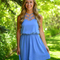 Be Fierce Dress- Blue