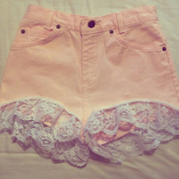 High waisted made to order shorts.