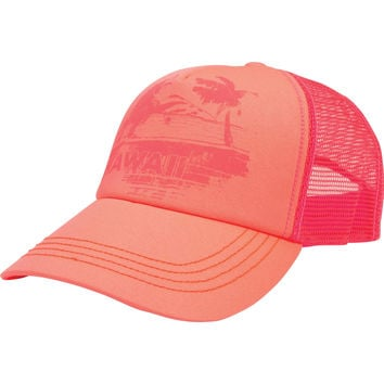 Billabong - Hawaii Sunset Trucker Hat | Neon Coral