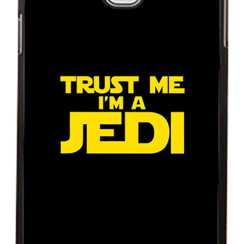 Star Wars Trust Me I am Jedi Samsung Galaxy Note 3 Cases - Hard Plastic, Rubber Case