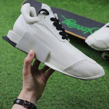 DCC3W Rick Owen x Adidas Level Runner Low Boost White S81141