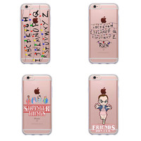 Stranger Things Christmas Lights For iphone 7 7Plus 6S 6Plus 5 5S  SE Soft silicone TPU Phone Cases Back Cover Fundas Capa