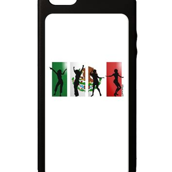 Mexican Flag - Dancing Silhouettes iPhone 5C Grip Case  by TooLoud