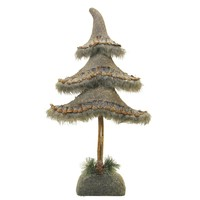 "19.5"" Glittered Country Rustic Tree Christmas Tabletop Decoration"