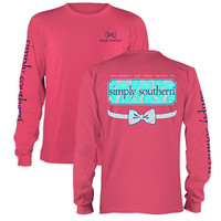 Simply Southern Preppy Floral Logo Long Sleeve T-Shirt