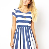 WAL G Stripe Skater Dress