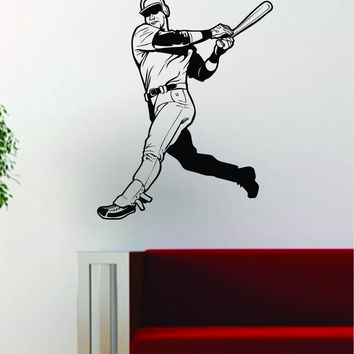 Baseball Player v6 Batter Home Run Decal Wall Vinyl Art Sticker Sports Decor Room MLB