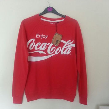 Coca Cola Sweater Red Merchandise 100% Genuine