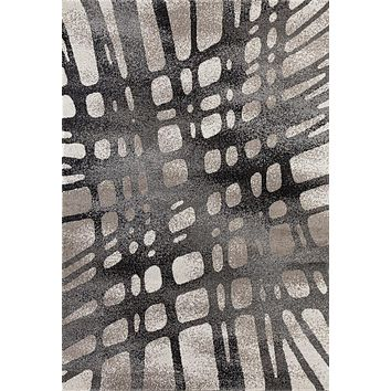 3299 Beige Gray Abstract Contemporary Area Rugs