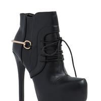 Haute Damn Faux Leather Booties