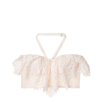 Floral Lace Flounce Long Line Bra - Dream Angels - Victoria's Secret