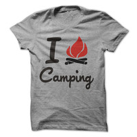 I Love Camping Tshirt Camp Shirt Outdoor Shirts Campfire Happy Camper Tees
