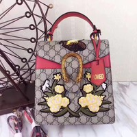 GUCCI WOMEN LEATHER HANDBAG SHOULDER BAG