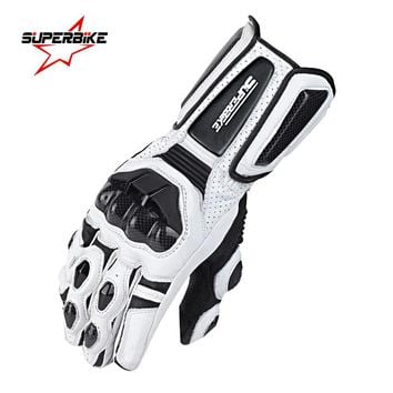 Motorcycle Gloves Men Leather GP PRO Long Full Finger For Male Motorbike Glove Genuine Goatskin Cycling Racing Motocross Luvas