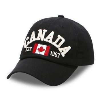 CANADA Baseball Caps Women Letters Patch Dad Hats Men embroidered snapback cap B