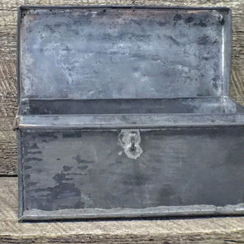 Metal Lock Box Galvanized With Soldered Seams