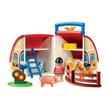Playmobil® 1.2.3 Take Along Barn with Animals