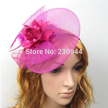 New 3pcs/lot Wedding hats for brides Fascinator Hair hairbands