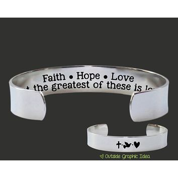 Faith Hope Love Bracelet | Christian Jewelry