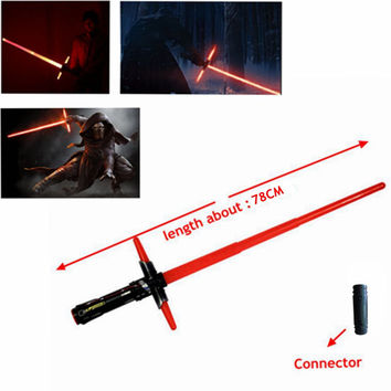 1Pcs HOT Sale Star Wars Lightsaber 7 The Force Awakens Kylo Ren Sword Toys LED Cosplay Darth Vader Laser Sword Weapons 101CM hwd