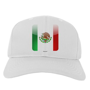 Mexican Flag App Icon Adult Baseball Cap Hat by TooLoud