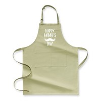 Happy Father's Day Moustaches, Father's Day Apron