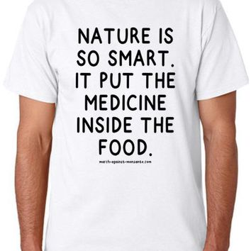 """Nature is so Smart"" Unisex T-Shirt (Organic Cotton)"