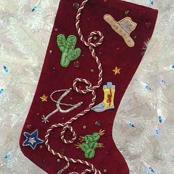 Christmas Stocking - Western Themed