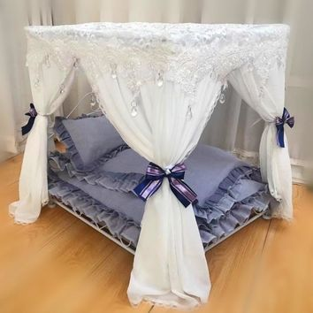 Princess bed  eluxe court bed iron pet bed pet nest teddy bear dog house pet bed