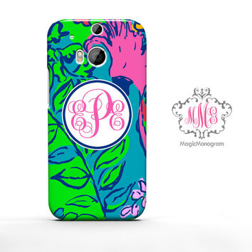 Shake Your Tailfeather Lilly Pulitzer Monogram HTC Case M9, M8 Case