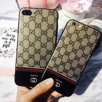 One-nice™ Classic Edition GUCCI Fashion Luxury Supreme Sliver Mirror Case For iPhone 7 7Plus 6 6s 6Plus 6s Plus I