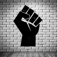 Man's Hand Fist Politics Entertainment Decor Wall Mural Vinyl Art Sticker M376