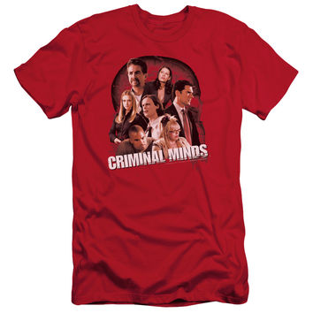 CRIMINAL MINDS/BRAIN TRUST - S/S ADULT 30/1 - RED -