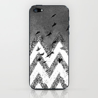 flying (black and white) iPhone & iPod Skin by Marianna Tankelevich