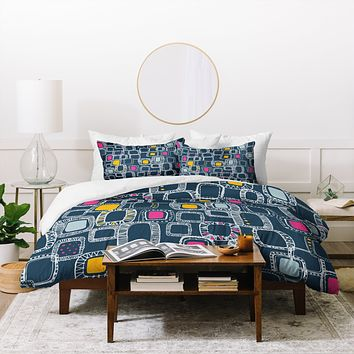 Rachael Taylor Shapes And Squares 1 Duvet Cover