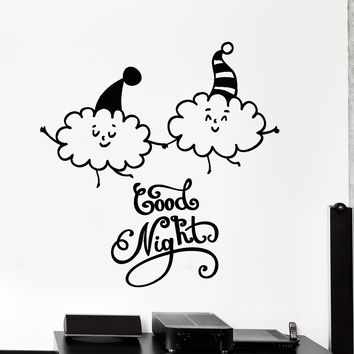 Wall Vinyl Decal Nursery Room Kids Children Two Lovely Cloud Home Decor Unique Gift z4360