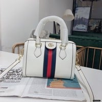 Gucci Women Leather Shoulder Bag Satchel Tote Bag Handbag Shopping Leather Tote Crossbody Satchel Shouder Bag created created
