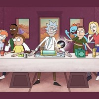 """Rick And Morty TV Animation Fabric poster 55"""" x 24"""" 32"""" x 13""""Decor -028"""