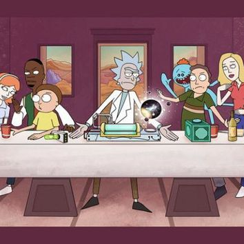 "Rick And Morty TV Animation Fabric poster 55"" x 24"" 32"" x 13""Decor -028"