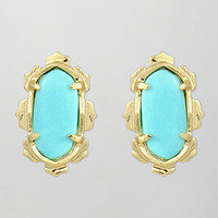Shina Stud Earrings, Turquoise