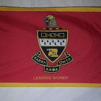 Kappa Alpha Theta 3 College Sorority Official Licensed Flag 3x5