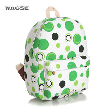 Canvas Casual Green Thicken Stylish Fashion Backpack = 4887740740