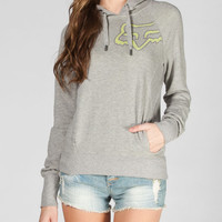 Fox Uplift Womens Hoodie Heather Grey  In Sizes